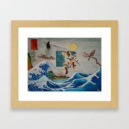 Tadatsune's Journey to Mount Fuji Framed Art Print