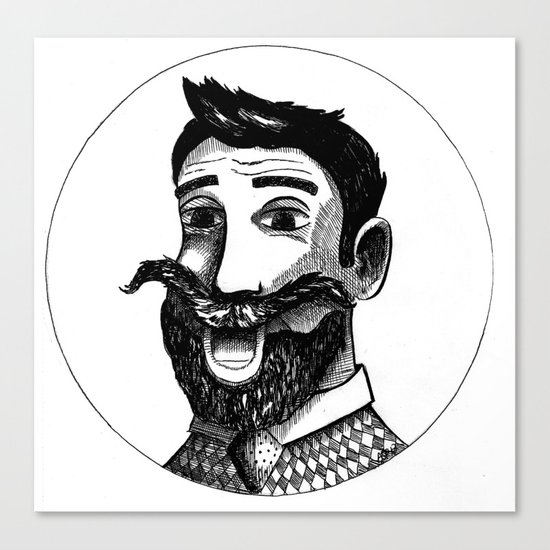Mustache Man Canvas Print