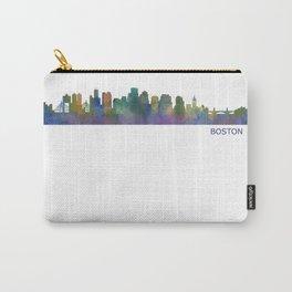 Boston Massachusetts City Skyline Hq V1 Carry-All Pouch