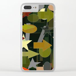 shapes of many colors Clear iPhone Case