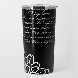 Charles Baudelaire - The Temptation - She consoles me like the night Travel Mug