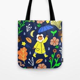 Rainy Walk Tote Bag