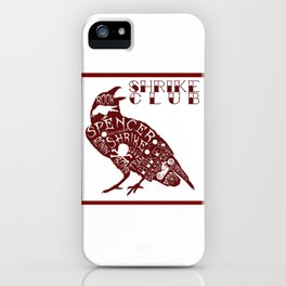 Shrike Club Word Raven  iPhone Case