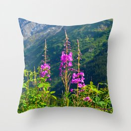 Fireweed ~ Mid-Summer Throw Pillow