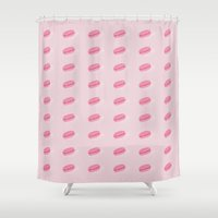 macarons Shower Curtains featuring Macarons by Alexa