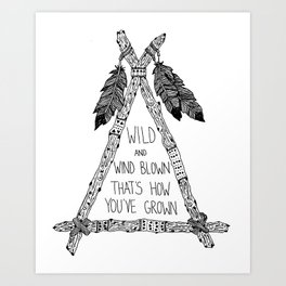 Wild and Wind Blown Print Art Print