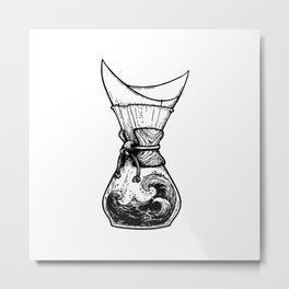 Chemax Coffee Maker Art Metal Print