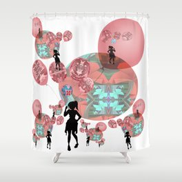 Balloon Girl Cosmic Interlude Surrealism Shower Curtain