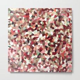 Red Mosaic Pattern Metal Print