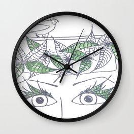 BirdLady Wall Clock