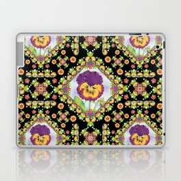 Purple Pansy Portrait Laptop & iPad Skin