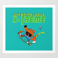 Sherylpalooza X-Treme Art Print