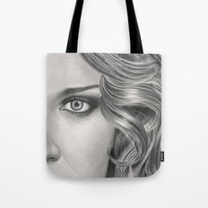Half Portrait Tote Bag