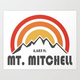 Mount Mitchell Art Print