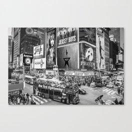 Times Square II (B&W widescreen) Canvas Print