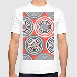 Circles and shades Orange T-shirt