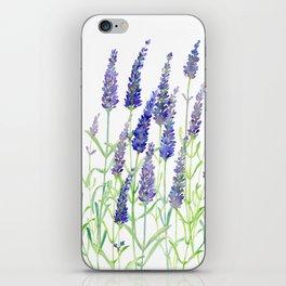 Watercolor Lavender Bouquet iPhone Skin