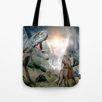 dinosaur Tote Bags featuring Dinosaur by giftstore2u