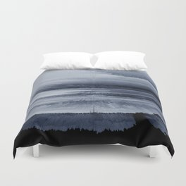 Abstract black painting 2 Duvet Cover