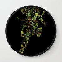 street fighter Wall Clocks featuring Street Fighter Cammy by vanityfacade