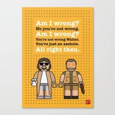 My The Big Lebowski lego dialogue poster Canvas Print