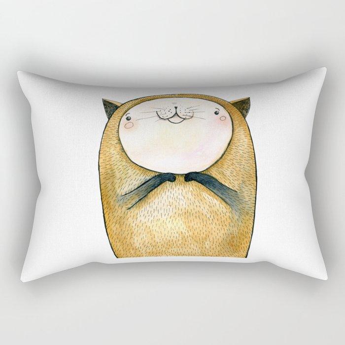cutie cat Rectangular Pillow