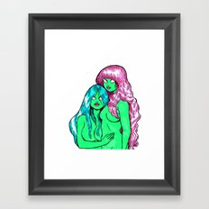 Little Greenies Framed Art Print