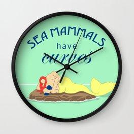Sea Mammals have Curves Wall Clock