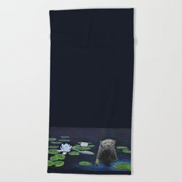 The River Otter by Teresa Thompson Beach Towel