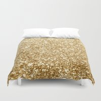 gold glitter Duvet Covers featuring Gold glitter by Masanori Kai