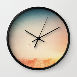 Beach Horses  Wall Clock