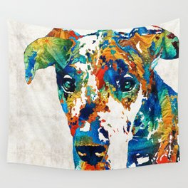 Colorful Great Dane Art Dog By Sharon Cummings Wall Tapestry