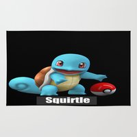 squirtle Area & Throw Rugs featuring Squirtle 2 by Yamilett Pimentel