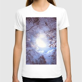 Fascinating Mysterious Earth Satellite Leafless Trees  T-shirt