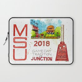 2018 MSU Game Day - The Junction Laptop Sleeve