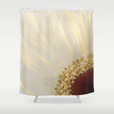 White Daisy in Love Shower Curtain