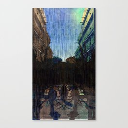 Saturday 26 January 2013: symmetrical compensation, symbiotic compression Canvas Print