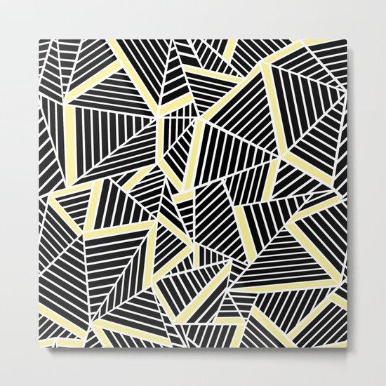 Ab Lines With Yellow Metal Print
