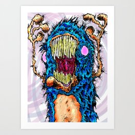 Screaming Yeti Art Print