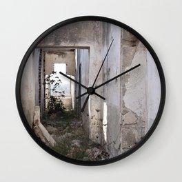 Abandoned house 2 Wall Clock