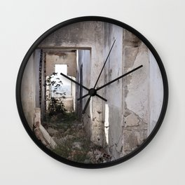 Abandoned house 2 Wall Clock