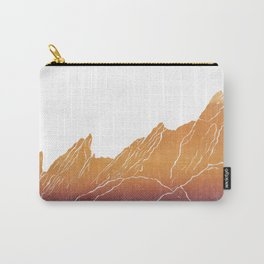 Colorado Mountain Ranges_Boulder Flat Irons Carry-All Pouch