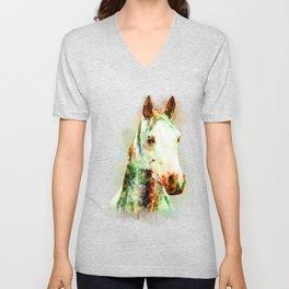Horse Watercolor, Horse Print, Watercolor Print, Watercolor Animal, Horse Painting, Horse Gift Print Unisex V-Neck
