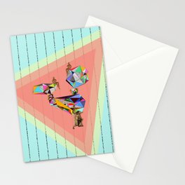 Behind every great man there are women to keep him balanced Stationery Cards