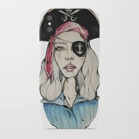 pirate iPhone & iPod Cases featuring Pirate by Bruno Gonçales