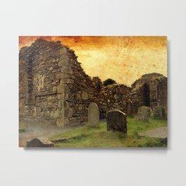 🔵 Ancient Irish Graveyard Ruins Metal Print