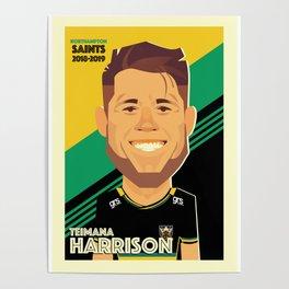 Teimana Harrison - Northampton Saints Poster