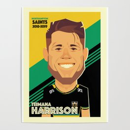 Teimana Harrison - Northampton Saints Poster