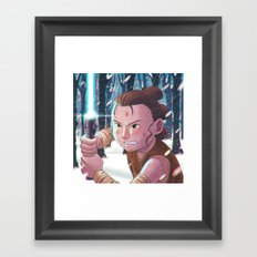 Use the force - Rey Tribute 2 Framed Art Print