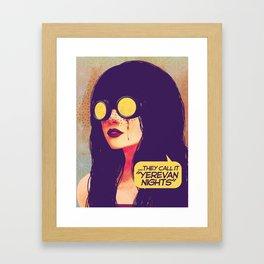 yerevan nights Framed Art Print
